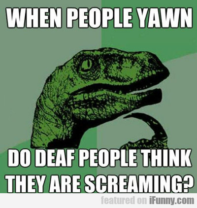 When People Yawn...