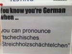 You Know Your'e German When You Can...