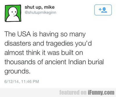 The Usa Is Having So Many Tragedies...