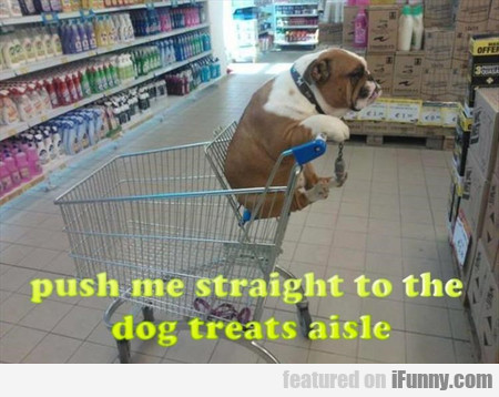 Push Me Straight To The Dog Treats Aisle
