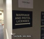 Marriage And Pistol Licenses...