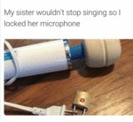 Locked My Sister's Microphone...