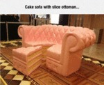 Cake Sofa With Slice Ottoman...