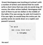 Ernest Hemingway Was Lunching At Luchow's