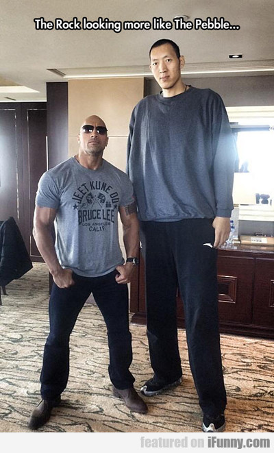 The Rock Looking Like A Pebble...