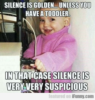 Silence Is Golden...unless You Have A Toddler