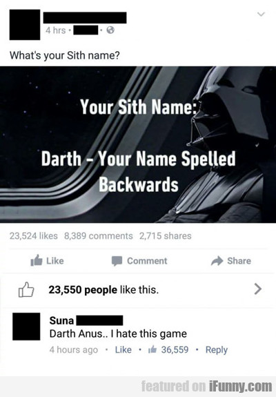 Your Sith Name...