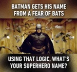 Batman Gets His Name From A Fear Of Bats...