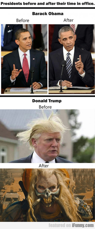 Presidents Before And After Office...