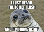 I Just Heard The Toilet Flush...
