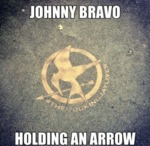 Johnny Bravo Holding An Arrow...