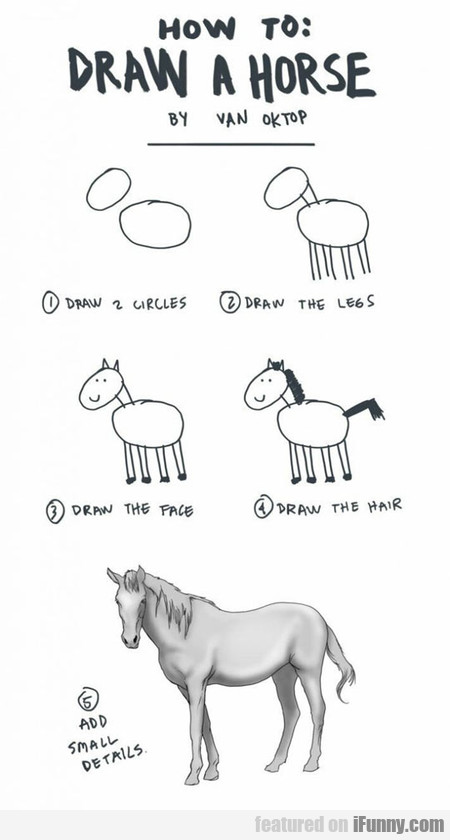 How To Draw A Horse In Five Steps