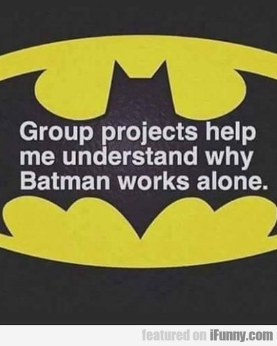 Group Projects Help Me Understand Why...