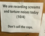 We Are Recording Screams...