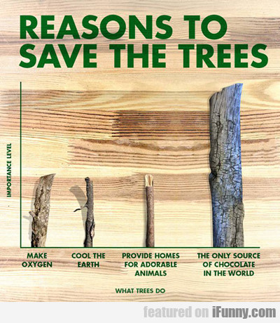 Reasons To Save The Trees...