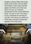 Imagine A Library Filled With Every Book