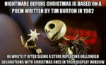 The Nightmare Before Xmas Is Based On...