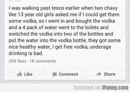 I Was Walking Past Tesco Earlier