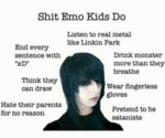 Shit Emo Kids Do...