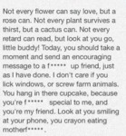 Not Every Flower Can Say Love