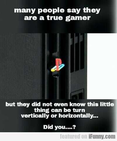 Many People Say They Are True Gamers...