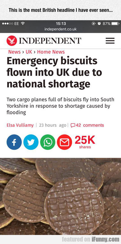 Most Uk Headline Ever...
