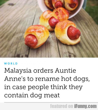 Malaysia Orders Auntie Anne's...