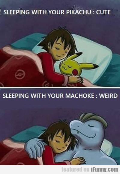 Sleeping With Your Pikachu...