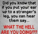 Did You Know That If You Put Your Ear...