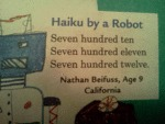 A Haiku By A Robot...