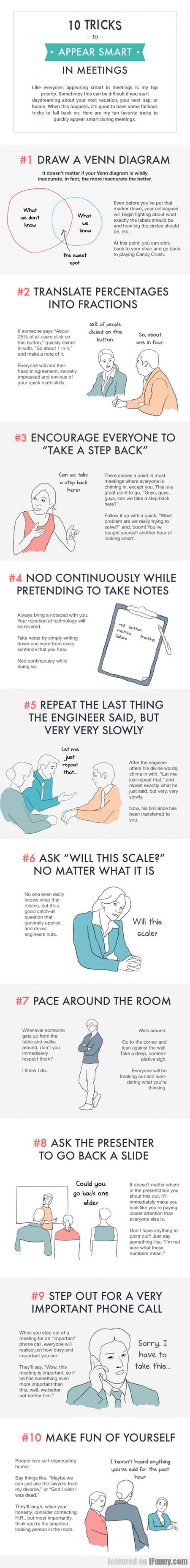 10 Tricks To Appear Smart In Meetings