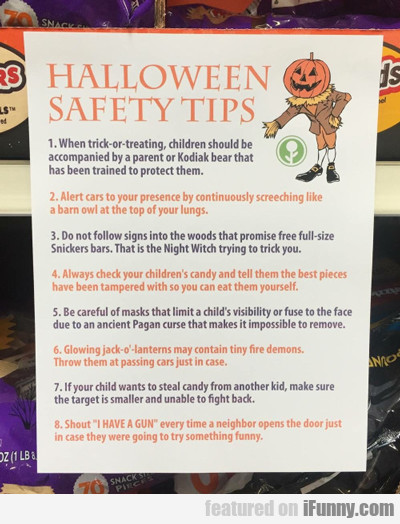 Halloween Safety Tips...