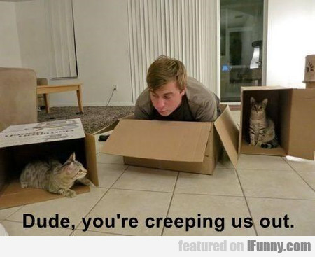 Dude, You're Creeping Us Out
