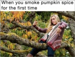When You Smoke Pumpkin Spice...