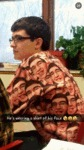 He Has His Face On His Shirt...