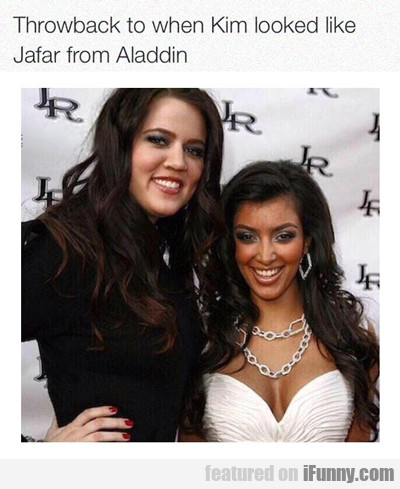 Throwback To When Kim Looked Like Jafar...