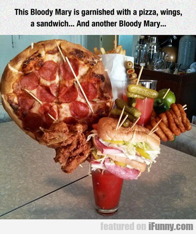 this bloody mary is garnished...