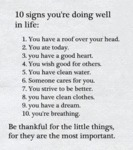 10 Signs You're Doing Well In Life...