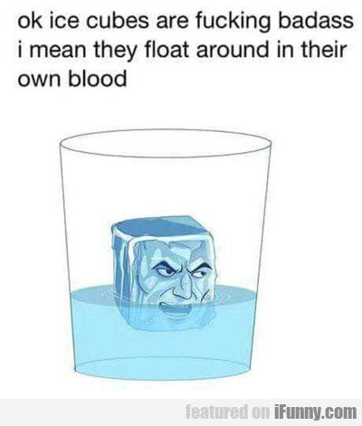 Ice Cubes Are Very Bad Ass...