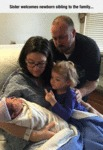 Sister Welcomes Newborn Sibling To The Family...