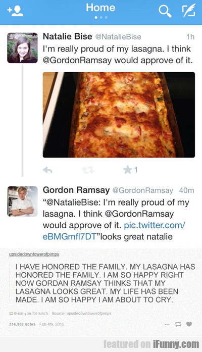 I'm Really Proud Of The Lasagna I Made...