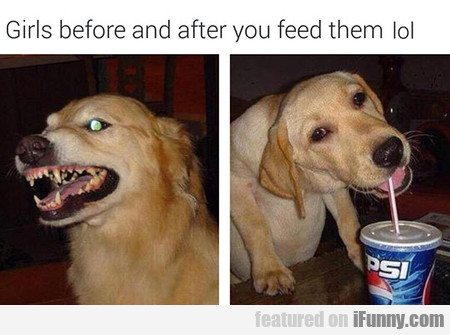 Girls Before And After You Feed Them