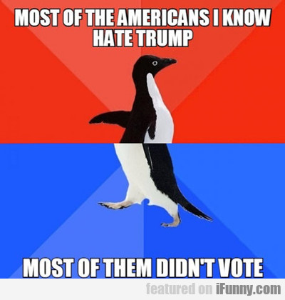 Most Of The Americans I Know Hate Trump...