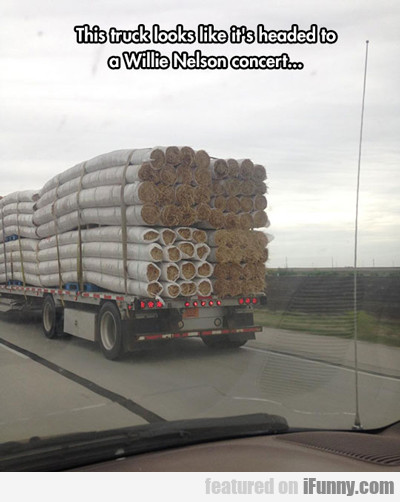 Must Be Going To A Willie Nelson Concert...