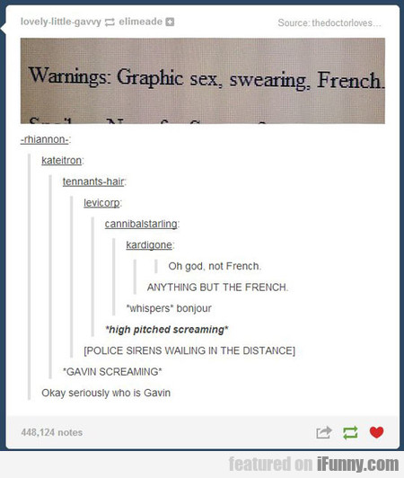 Warnings - Graphic Sex, Swearing, French