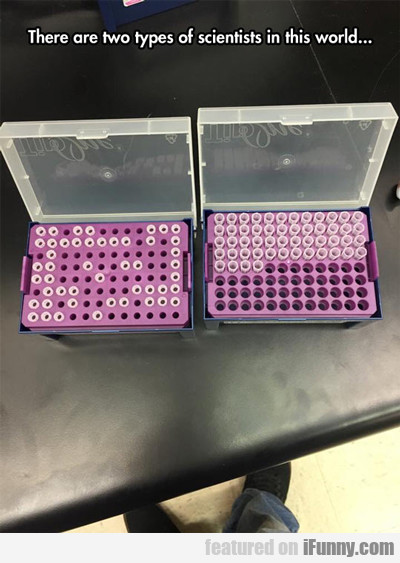 there are two types of scientists in the world...