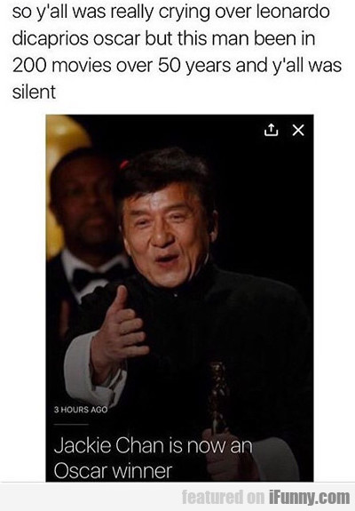Jackie Chan Finally Won An Oscar...
