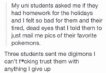 Three Students Sent Me Digimons