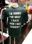 I'm Sorry For The Things I Said When I Was Hungry