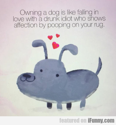 Owning A Dog Is Like Falling In Love With...